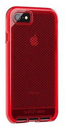 Tech21 Evo Check - Carcasa Para iPhone 7, Color Rojo