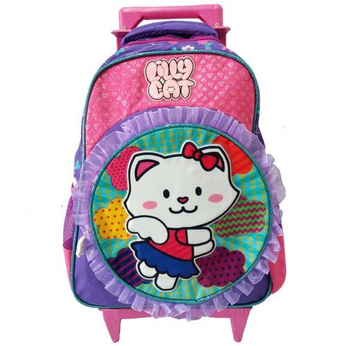 fe8502e78 Mochila Escolar De Rodinha Da Hello Kitty no Mercado Livre Brasil