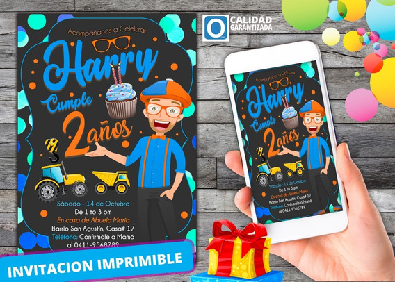Invitación Digital Virtual De El Show De Blippi