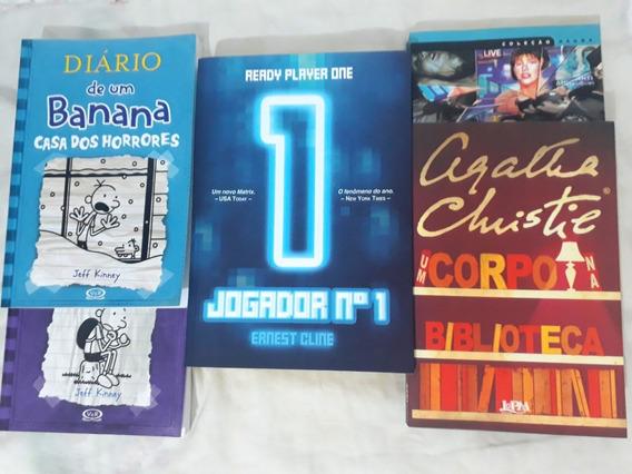 Jogador Número 1 + 2 Diários De Um Banana + 2 Livros