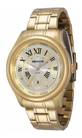 Relógio Seculus Nr. Romanos 2 Anos Garantia 23429gpsvda1