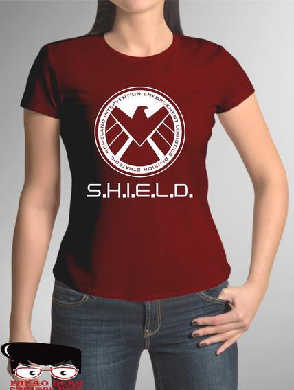 Camiseta Baby Look Agentes Da Shield Marvel Avenger Promoção