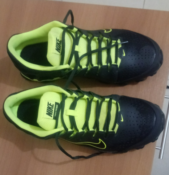 Tênis Masculino Nike Reax 8 616272-036 - Preto/verde Limão