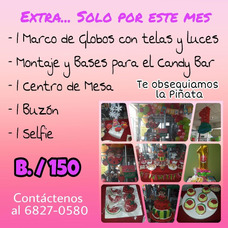 Decoraciones De Globos Y Candy Bar