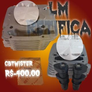 Kit Cilindro Pistão Anéis Cb Twister 250 2015...