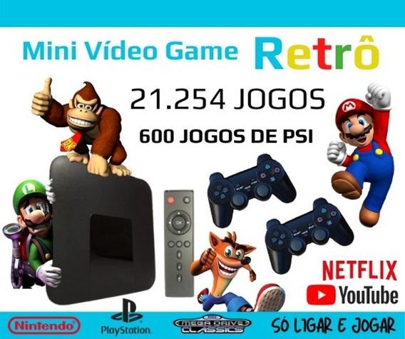 Vídeo Game Retro Tv Com 21.254 Jogos 32gb Super Nintendo