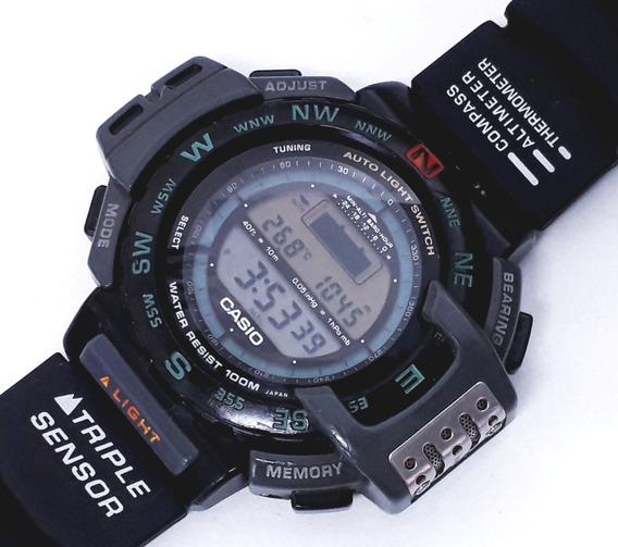 Casio Triple Sensor Pro Trek Prt-40 Barometer Compass Thermo