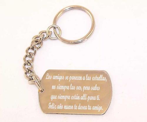 Medalla Llavero Acero Grabado Logo Frases Emotivas Mensajes
