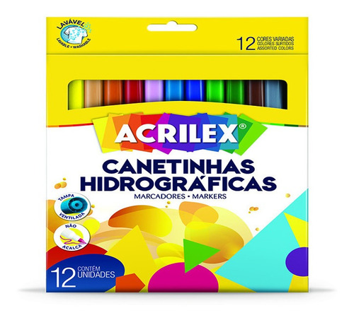 Marcadores Escolares Acrilex X 12 Colores