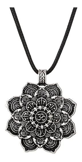 Collar Om Mandala Hippie Colgante Meditacion Yoga