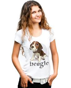 f39b98605 Camiseta Estampa Beagle - Camisetas e Blusas para Feminino no ...