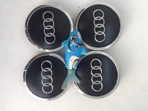 Imagen 1 de 10 de Kit 4 Tapas Rin Audi A3 A4 A5 Q7 Rs7 S5 Tt Black #8w0601170b