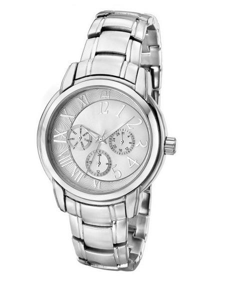 Relógio Feminino Ana Hickmann Prateado Original Nf Ah30111q