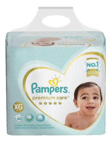 Imagen 1 de 1 de Pampers Premium Care For Xg 60