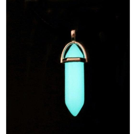 Colar De Pedra Hippie Quartzo Lua Natural Brilha No Escuro