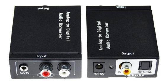 Adaptador E Conversor Rca (entrada) X Optico (saida)