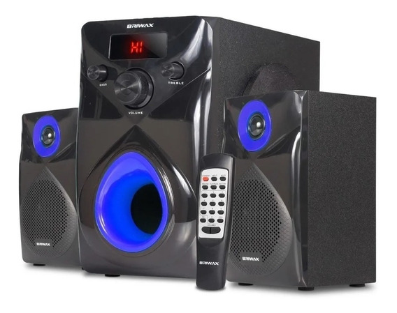 Caixa De Som 2.1 Home Theater 50w Sistema Som Bluetooth Mp3 Subwoofer Tv Pc