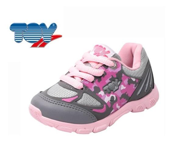 Zapatillas Toy Kids H45 Gris-rosa O Verde-azul Del 21 Al 26