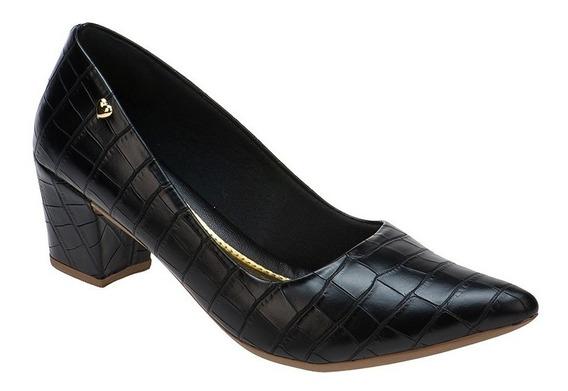 Sapato Scarpin Confort Salto Baixo Grosso Promoção | S02.scp