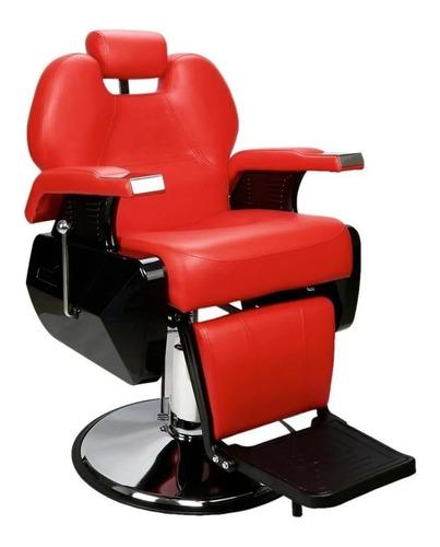 Imagen 1 de 7 de Silla Sillon De Barberia Barbero Estetica Uso Rudo Reclinabl
