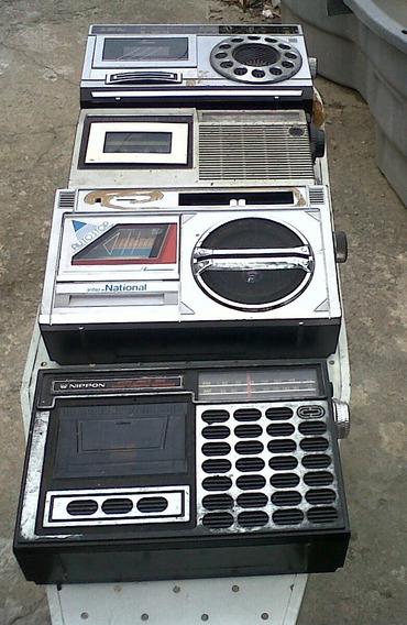 4 Rádios Gravadores Cassete