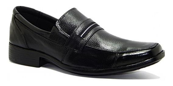 Sapato Casual Masculino Abc Couro Legítimo - Preto