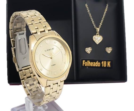 Relógio De Pulso Feminino Lince Lrgh075l Kv20 Cordão Brinco