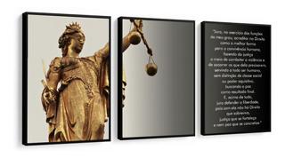 Quadro Decorativo Advocacia Direito Deusa Da Justiça Hall