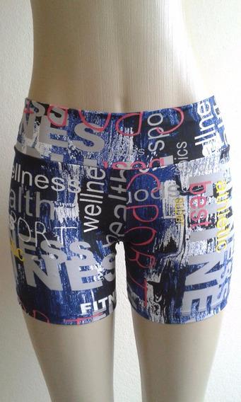 Kit 20 Shorts Fitness Estampado Curto Suplex