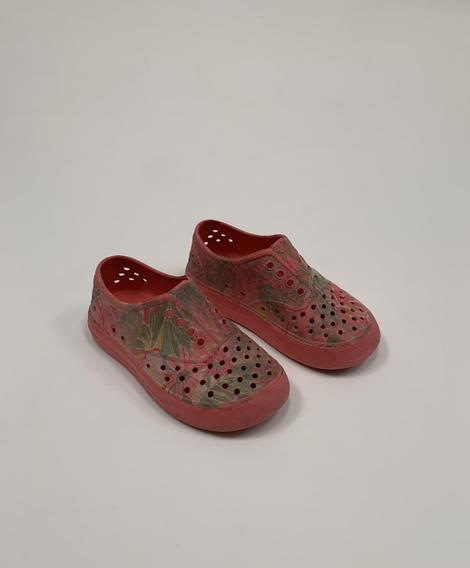 Zapatillas Goma Estampada Con Flores P/ Niña T. 8