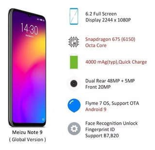 Celular Smartphone Meizu Note 9 4gb 128gb 6.2 48mp +5mp
