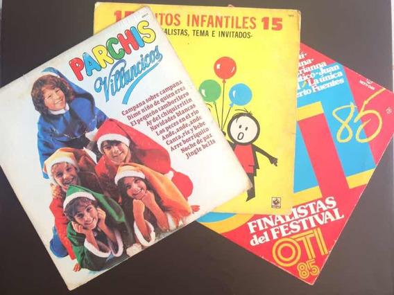 Lp Vinyl 3x1 Festival Musical Juguemos A Cantar, Parchis,etc