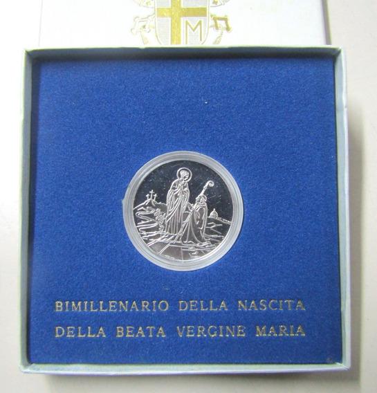 Vaticano 1984 Moneda 500 Liras 2000 Aniversario Virgen Maria