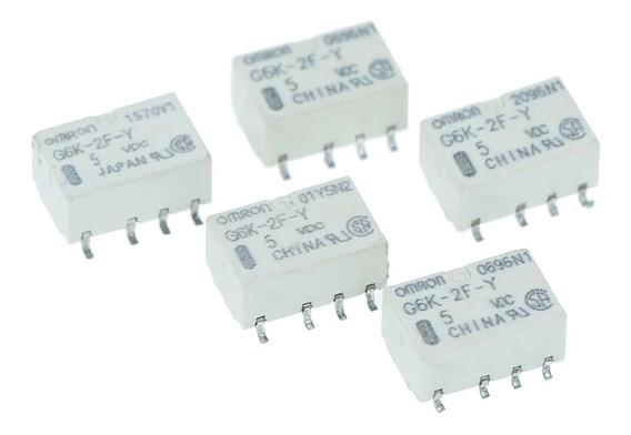 Micro Relé Smd G6k-2f-y 8pin Omron.5v N.aberto N.fechado