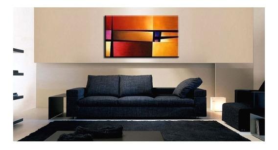Quadro Pintura Tela Abstrato 60 Cm X 1 Metro