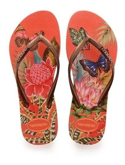 Chinela Havaianas Slim Tropical Original Feminina