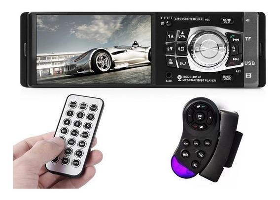 Central Mp5 Gm Celta Bluetooth Tela 4 1 Din Radio Mp3 Multimidia Player 4x60w Dvd Ligações Chamadas Audio Carro Rca Pote