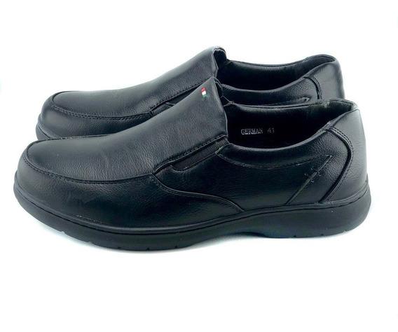 Zapato Abotinado Elastizado, Base Comfort De Goma Cosidas, M