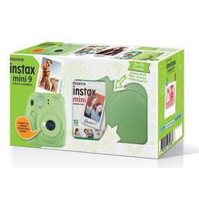 Kit Câmera Instax Mini 9 Verde Lima + Bolsa + 10 Filmes