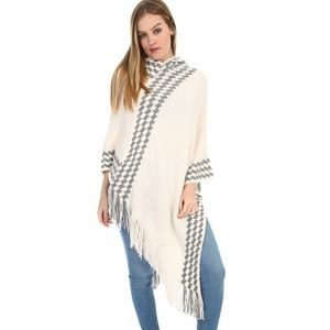 Poncho Color Beige