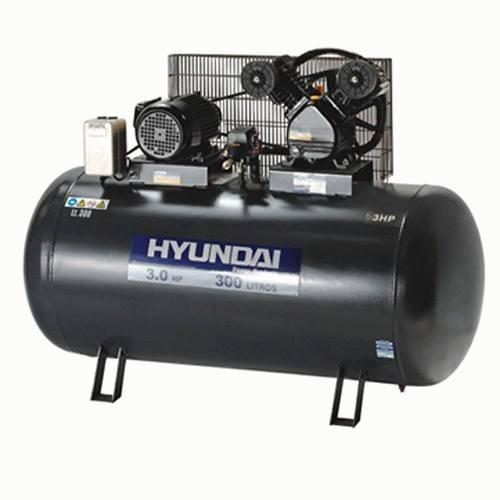 Compresor Hyundai 300 Lts 3.0 Hp Trifásico Hyc 300 G P