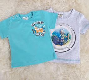 Kit 2 Camisetas Bebê Verão Estampadas