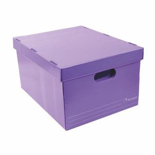 Caja Archivo Plastico Plana 804 Violeta. Con Tapa.