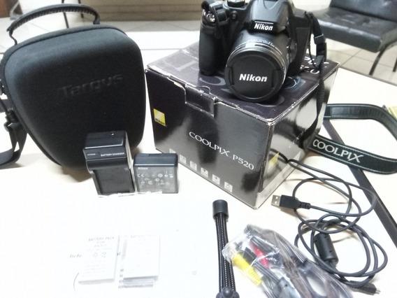 Câmera Digital Nikon P520 Em Ótimo Estado + Grátis