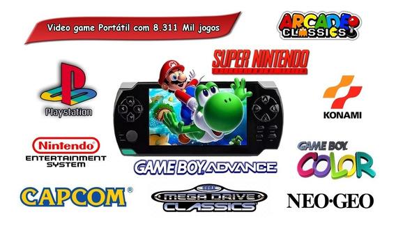 Vídeo Game Portátil 9.611 Mil Jogos Ps1 Snes Mega Neo Geo
