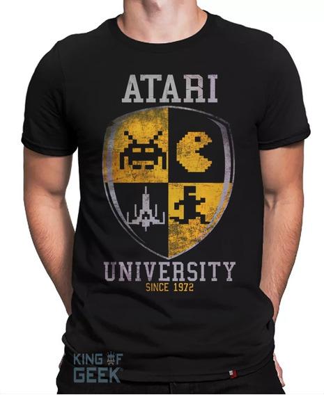 Camiseta Atari Video Game Retrô Camisa Geek Jogos Filmes