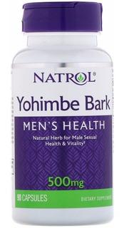Yohimbe Bark 500mg Natrol 90 Caps, Saúde Sexual Masculina