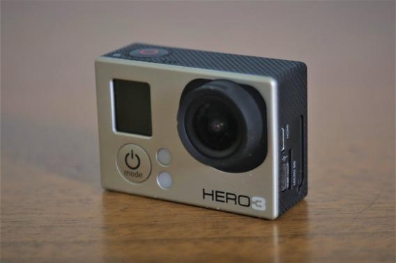 Câmera Gopro Hero 3 Silver + Acessórios