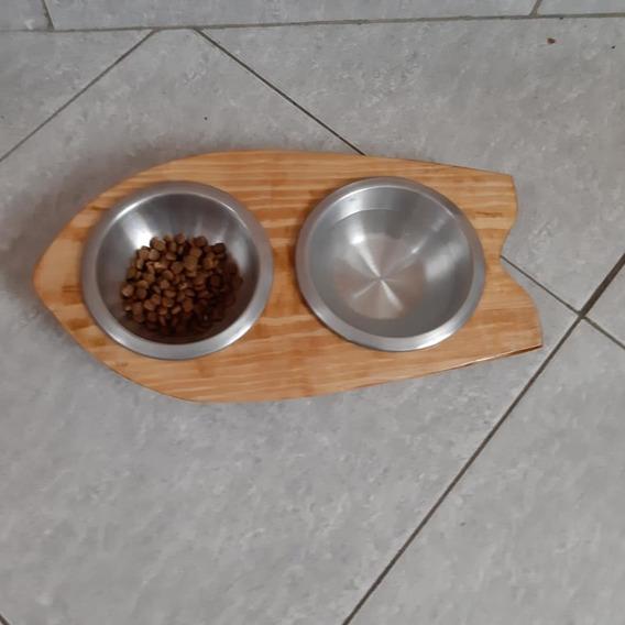 Comedouro E Bebedouro Para Cães Ou Gatos