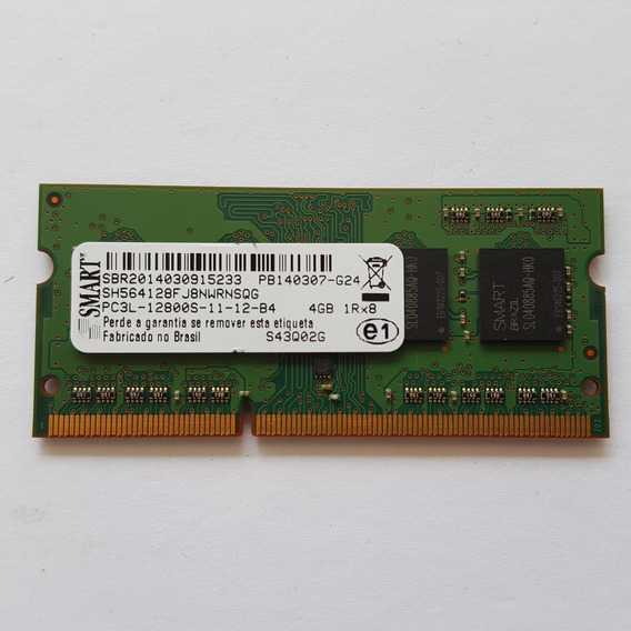 Memoria 4gb Pc3l 12800s Smart Notebook